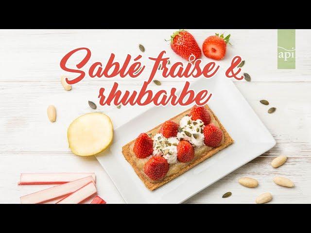 Sablé fraise et rhubarbe