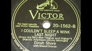 "Dinah Shore ""I Couldn't Sleep A Wink Last Night"""