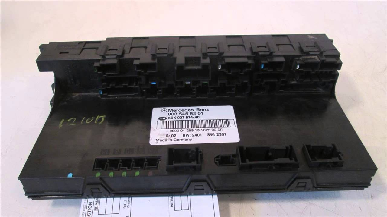 2002 mercedes c240 fuse box relay 0035455201 mbiparts com used oem rh youtube com 2002 mercedes c240 fuse box location 2002 c240 fuse box location