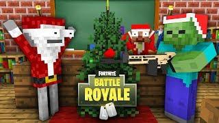 Monster School : FORTNITE BATTLE ROYALE CHRISTMAS SEASON 7 CHALLENGE - Minecraft Animation