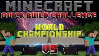 Minecraft Quick Build Challenge - World Championship! (Round 1, Match 1: GhostMagician vs NavyViper)