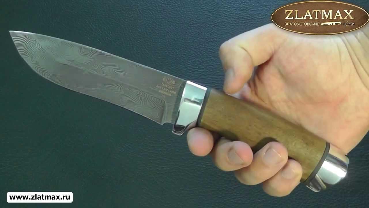 Видео Нож Н6 (40Х13-Х12Ф1, Орех, Алюминий, Алюминий)