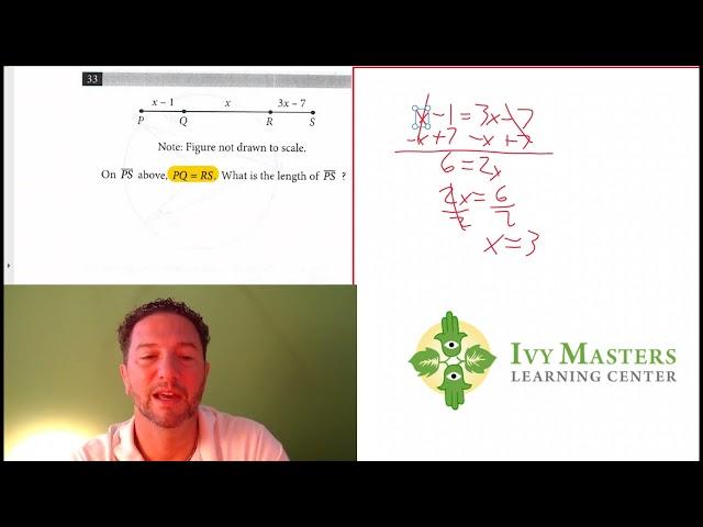 SAT Math, Test 5, Section 4, Number 33