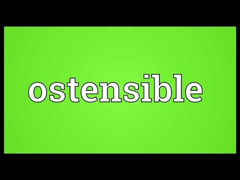 Header of ostensible