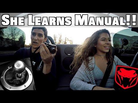 Teaching High School Girl To Drive Stick Shift Manual Dodge Viper!