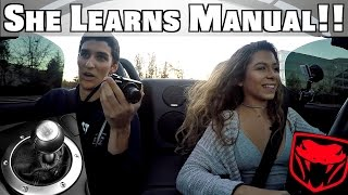 teaching high school girl to drive stick shift manual dodge viper