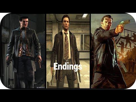 All Ending Cutscenes in Max Payne Games Series 2001- 2012 HD |
