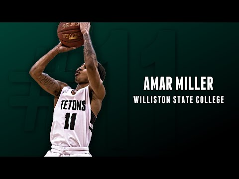 Amar Miller - Williston State College Sophomore 2018-19 Conference and Post Season Highlights