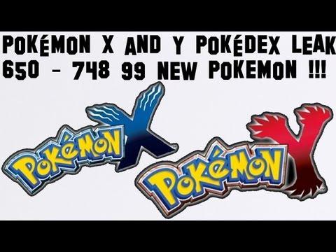 Pokemon Y and X Pokedex LEAK 650-748