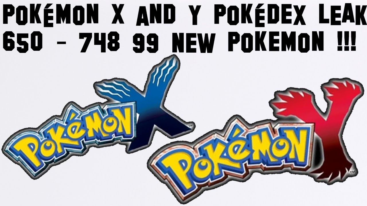 Pokemon Y and X Pokedex LEAK 650-748 - YouTube