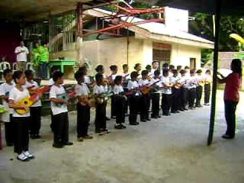 Maribojoc Hymn by Lincod Children's Ukulele Ensemble.AVI