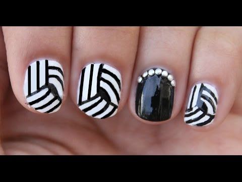 Easy Optical Illusion Nail Art!!