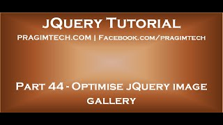 Optimise jQuery Image Gallery