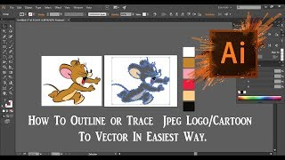 Adobe Illustrator CC Tutorial  |  How to image trace in illustrator in easiest way