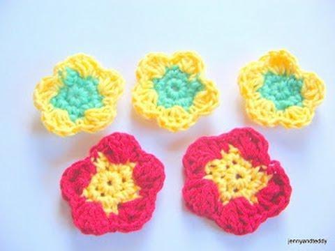 How To Crochet Flowers Easy For Beginner Youtube