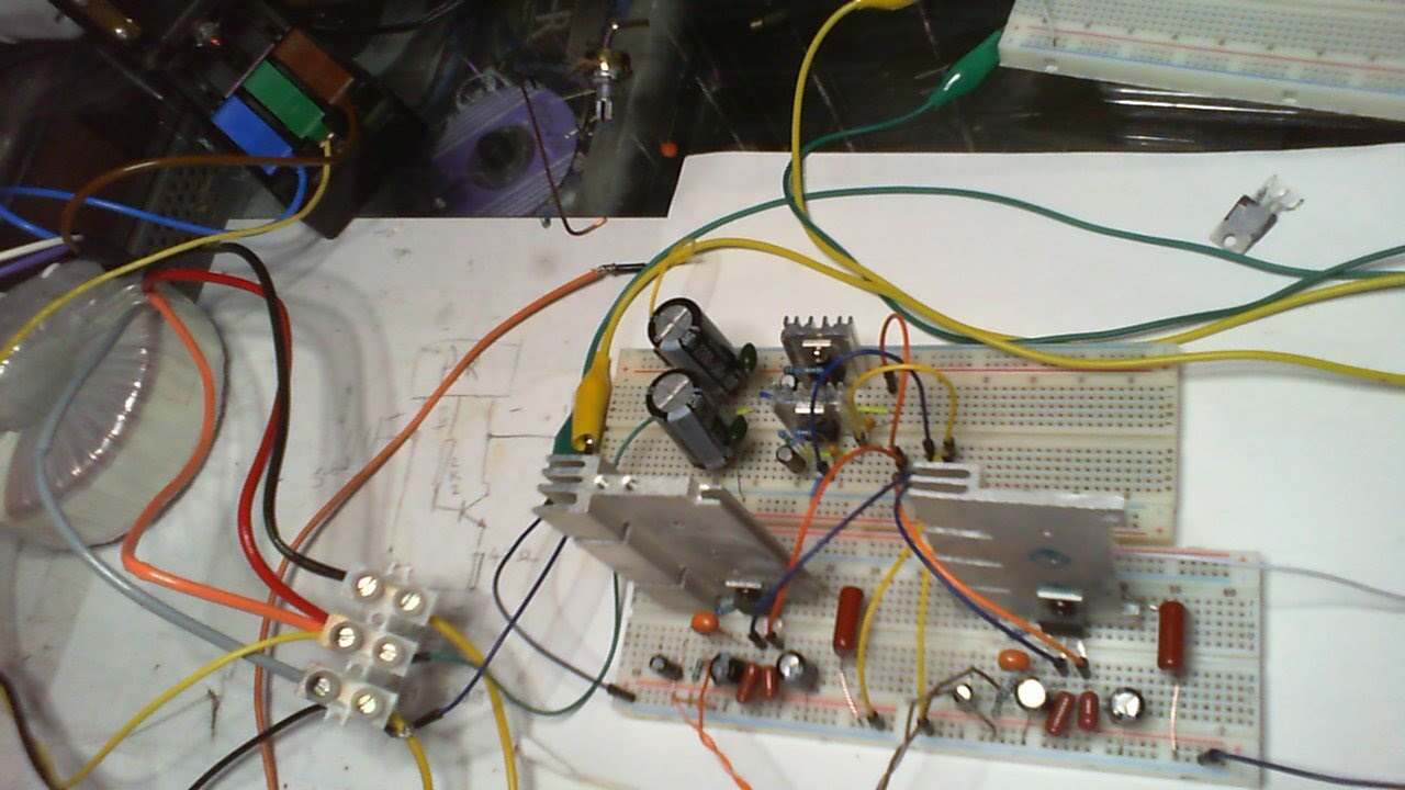 Diy Lm1875 Stereo Amp And Bipolar Supply Pt 1 Of 3 20w Audio Amplifier Using Ic Circuit Diagram