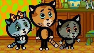 КОТЯТКИНЫ ИСТОРИИ - Чистая посуда - Песни для детей (Три котенка, новые серии)(, 2016-04-06T11:44:51.000Z)