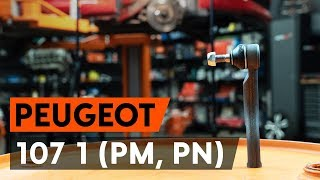 Track Rod End fitting PEUGEOT 107: free video