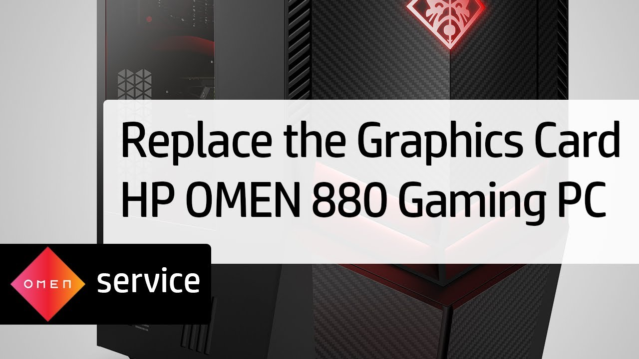 Removing and Replacing the Graphics Card on the HP OMEN 880 Gaming PC | HP  OMEN | HP