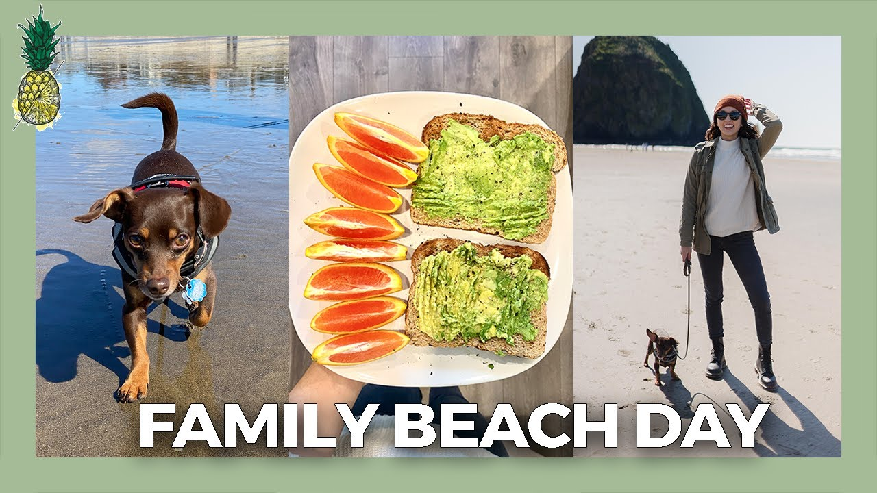 Family Beach Day + What We Eat In A Day (Vlog)