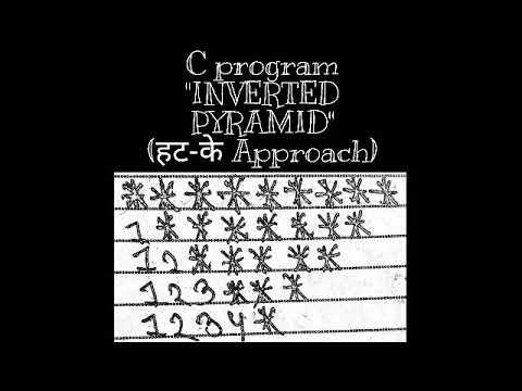 C Program to print INVERTED PYRAMID      (STAR PATTERN)    (हट-के Approach)