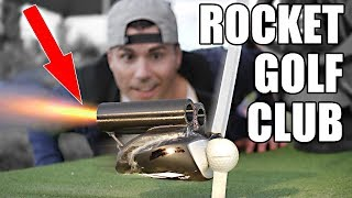 Rocket Powered Golf Club at 100,000 FPS