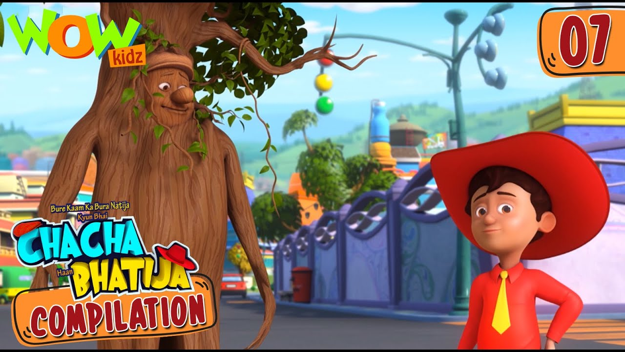 Chacha Bhatija   Compilation 07   Funny Animated Stories   Wow Kidz