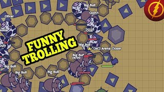 Moomoo.io BEST FUNNY TROLLING ALL THE ANIMALS!!