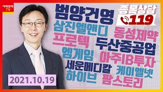 범양건영, 삼진엘앤디, 동성제약, 두산중공업, 아주IB…
