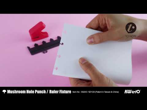 TO NOTE - 092A3 Mushroom hole punch / Ruler fixture (DIY/Notebook)