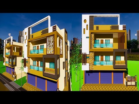 House front elevation models | 3D Elevation Design | House exterior elevation colour combination