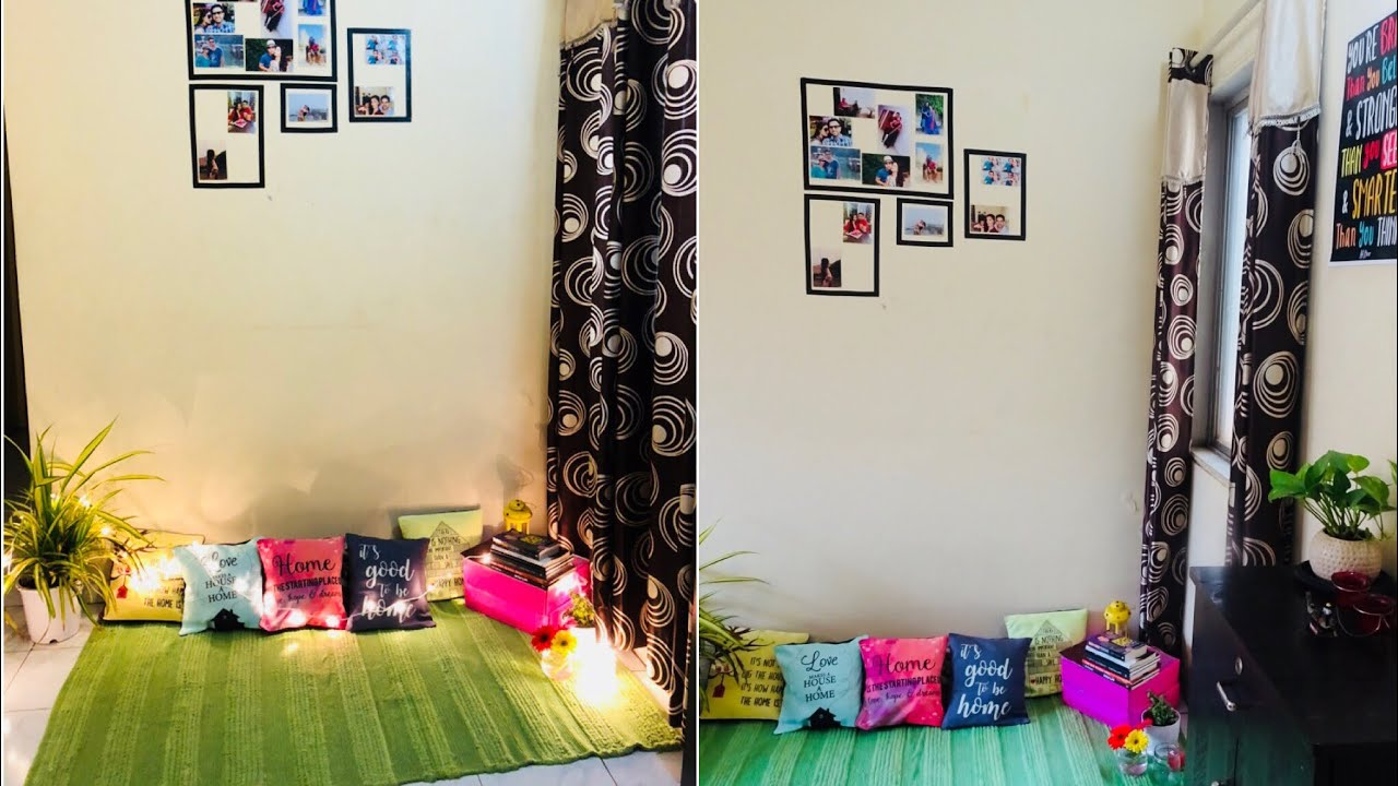 Small budget living room makeover in 2k diy indian - Decor for small living room on budget ...
