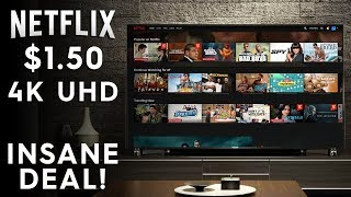 4K UHD NETFLIX FOR JUST $1.50 A MONTH! (£1.20) - Cheap Netflix Forever!