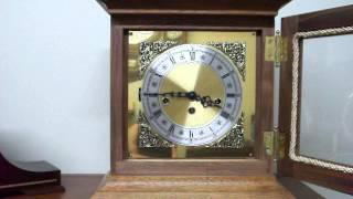 Handmade Mantel Clock With Hermle Movement