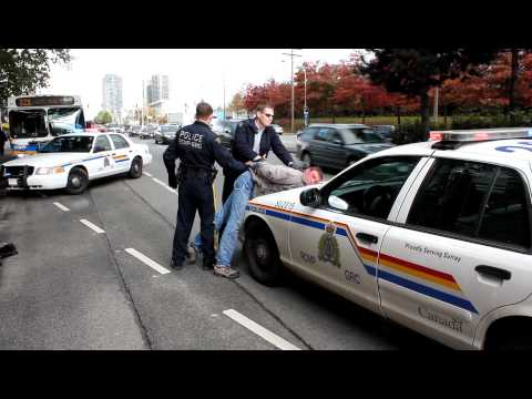Surrey RCMP take down Male High on Drugs