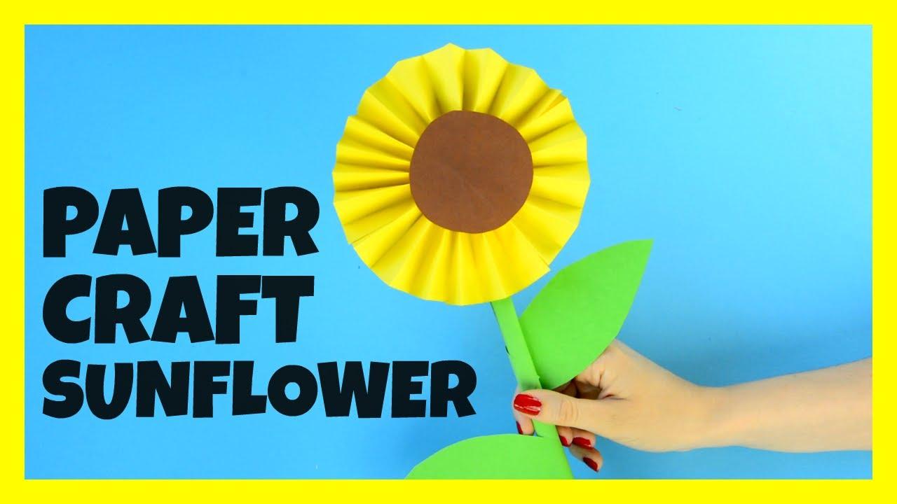 Easy Sunflower Craft For Preschoolers