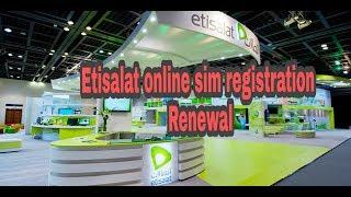 etisalat online sim registration renewal