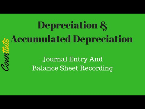 Depreciation & Accumulated Depreciation Journal Entry And Balance Sheet Recording