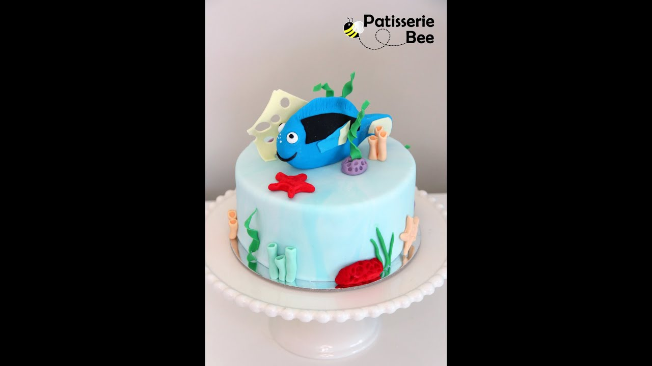 Dory fish cake decorating tutorial YouTube