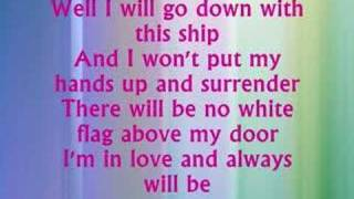 Dido White Flag with Lyrics