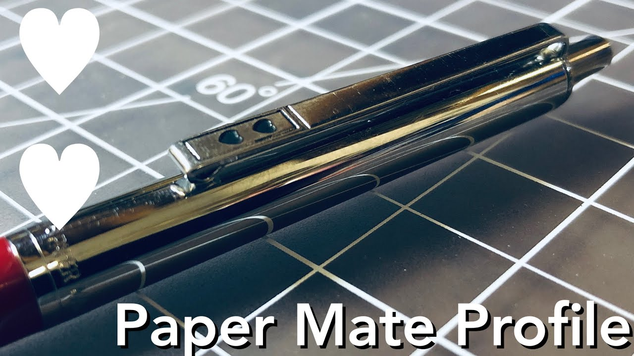 Paper Mate Profile Review - The Classic Double Heart Ballpoint