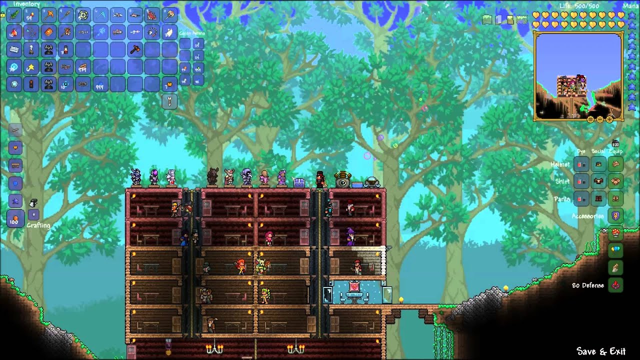 how to create defence in terraria