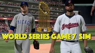 CUBS vs INDIANS | 2016 World Series Game 7 Simulation (Condensed Highlights) | MLB The Show 16