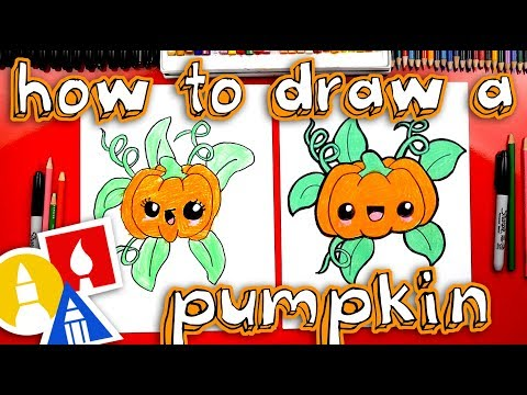 How To Draw A Funny Cute Pumpkin