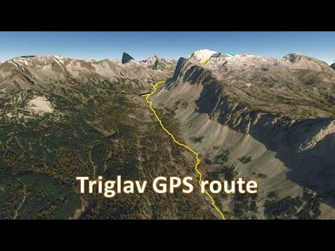 Triglav, Slovenia - GPS route