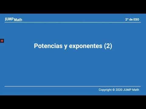 2º. Unidad 3. Potencias y exponentes II