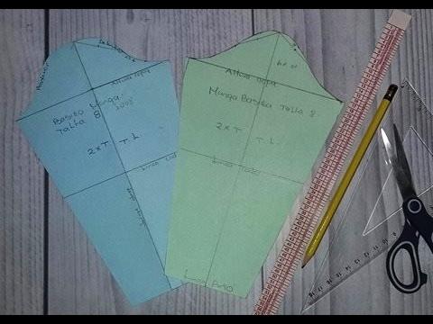 2 Metodos para hacer patrón manga básica - YouTube 92b7aa9805011