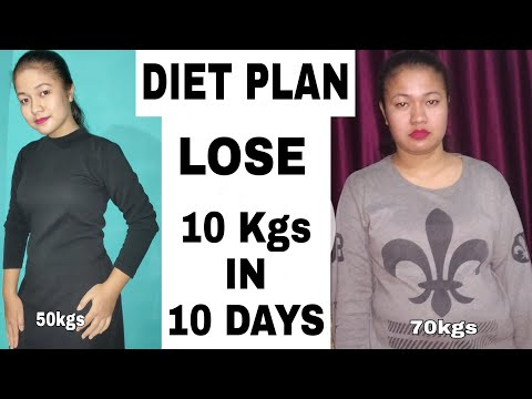 Diet Plan To Lose Weight Fast | Lose 10 kgs In 10 Days |