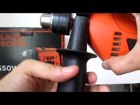 TALADRO PERCUTOR BLACK + DECKER HD 555 / 550 W (Unboxing, Descripción, Configuración y Uso)