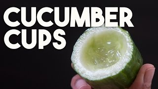 CUCUMBER CUPS - CANAPE perfect, how to make & store